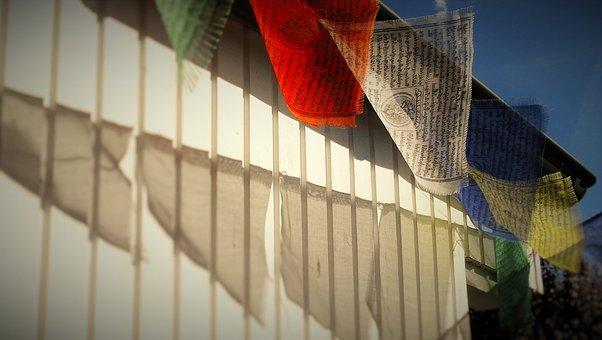 Tibetan, Prayer Flags, Wind, Buddhism