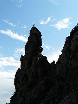 Rock Tower, Cross, Summit Cross, Summit, Mountains