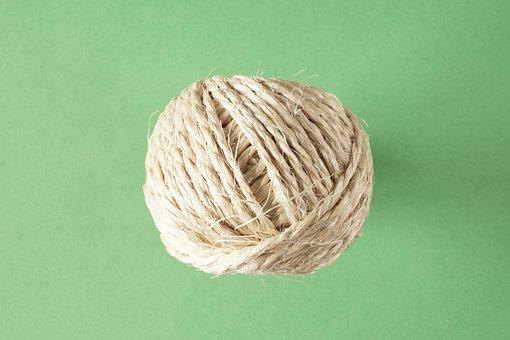 Rope, Knitting, Sisal, Cord, Knaeul, Role