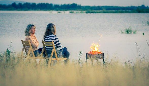 Beach, River, Tourism, Russia, Komsomolsk-on-amur