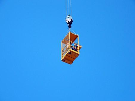 Crane, View, Height, Outlook, High, Vision, Sky