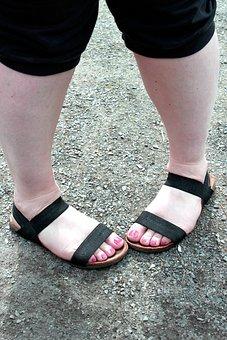 Toes, Summer, Sand, Capri, Sandals, Nail Polish, Red