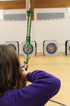 Aiming, Target, Archer, Aim, Bullseye, Bow And Arrow