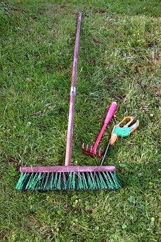 Allotment, Gardening Equipment, Broom, Rush, Nature