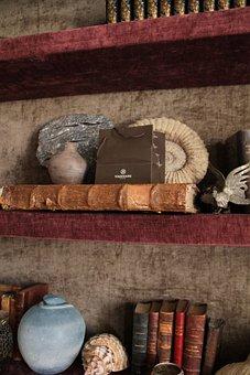 Shelves, Former, Books, Antique