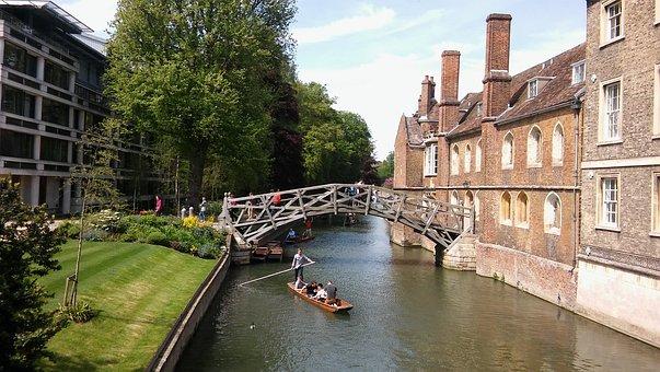 Cambridge, Uk, Architecture, Mathematical Bridge