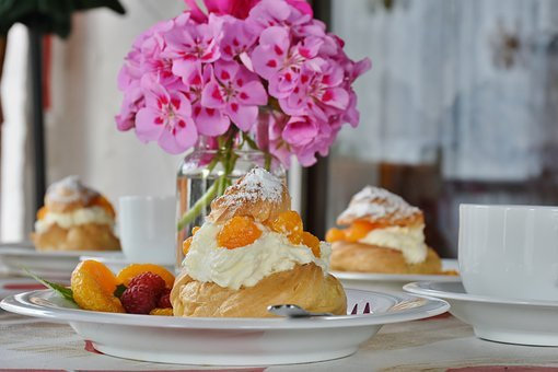 Cream Puff, Pastries, Bake, Baked Goods, Delicious