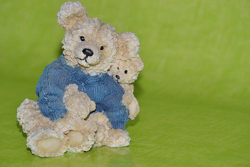 Teddy, Cute, Bear, Sweet, Ceramic, Ceramic Figurine