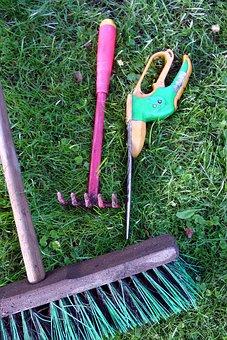 Rose Scissors, Garden Tools, Allotment, Broom, Rush