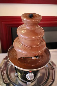 Chocolate Fountain, Brown Chocolate, Chocolate