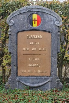 Soldiers Cemetery, Death, Cemetery, Grave, Belgian Flag