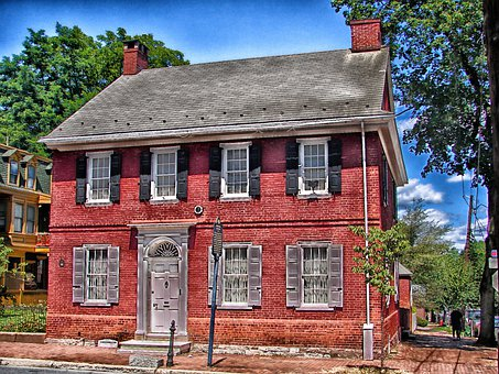 Lancaster, Pennsylvania, Colonial House, Landmark