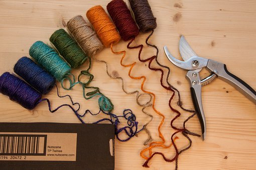 Nutscene, Jute Cord, Cord, Colorful, Color, Rough Cord