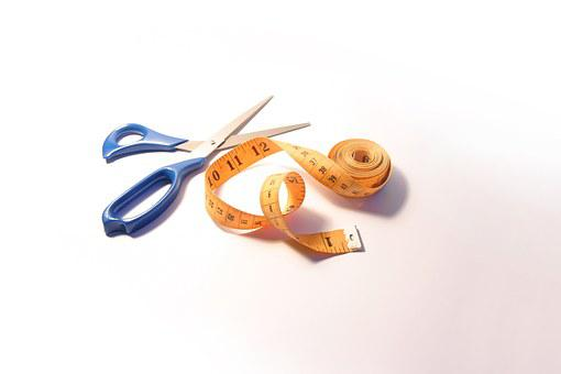 Scissors, Tape Measure, Tailor, Crafts, Clothes, Fabric