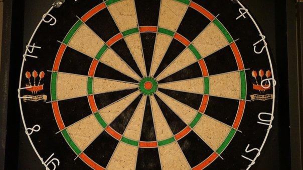 Dart, Dart Board, Sports, Bullseye, Board, Target