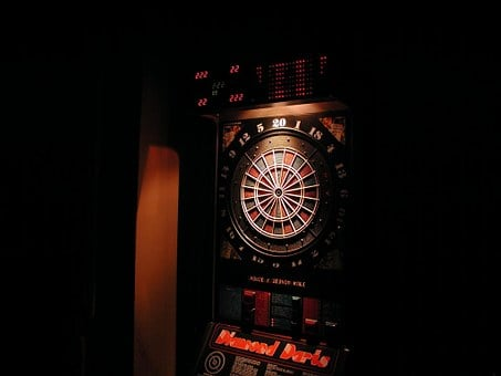 Pikado Machine, Dart, Game, Bar, Dartboard, Target