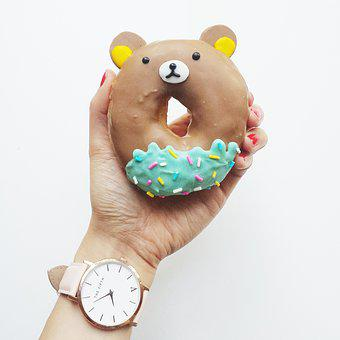 Donut, Cute, Kid, Sweet, Food, Caucasian, Junk