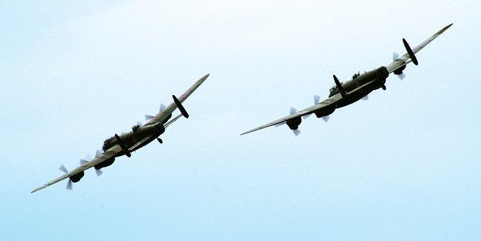 Aeroplane, Fly, Lancaster, Bomber, War, Aircraft