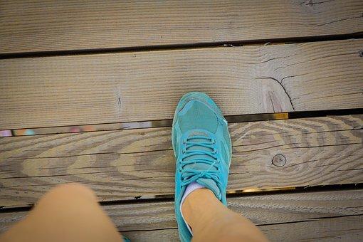 Run, Go, Sports Shoes, Blue, Brand, New, Fashion