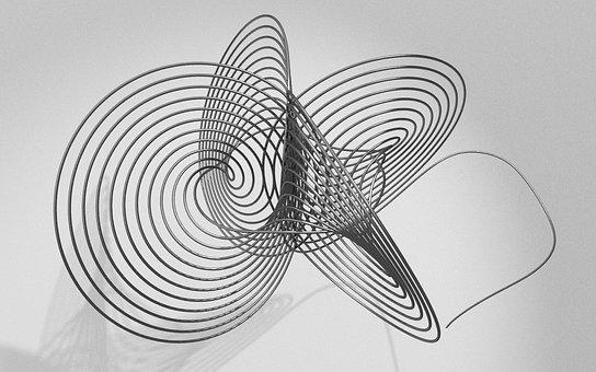 Wire, Mathematics, Black, Grey, Fractal, 3d, Rendering