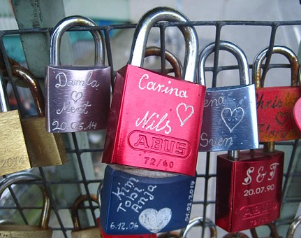 Love Locks, Engraving, Custom, Forever, I Love You
