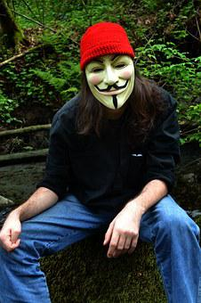 Face, Mask, V For Vendetta, Anonymous, Red Cap