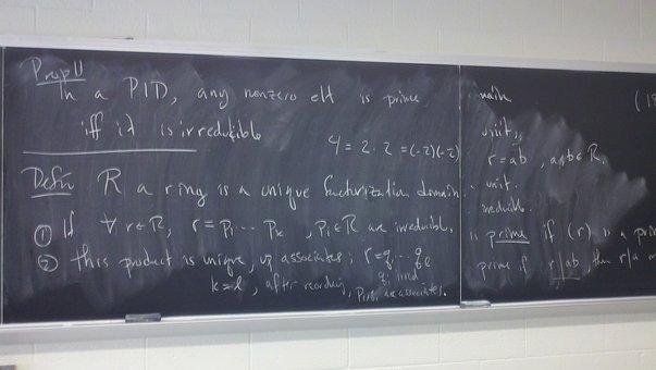 Mathematics, Math, Abstract Algebra, Chalk Board