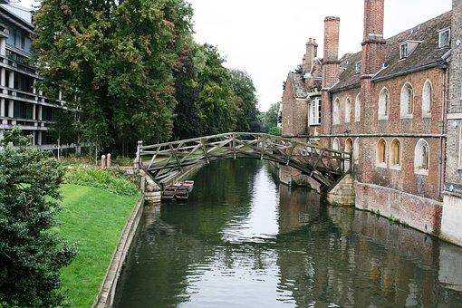 Mathematical Bridge, Channel, Cambridge, England