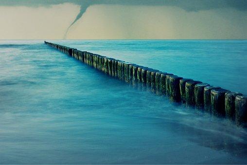 Sea, Tornado, Forward, Sky, Wind Shear, Mood, Rain