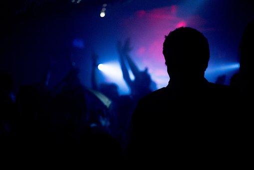 Night Club, Silhouette, Party, Club, Music, Night