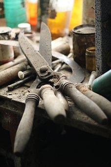 Shear, Former, Old, Tools, Flea Market, Rustic