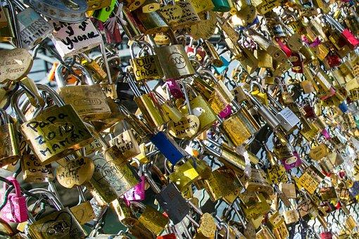 Vorhängschloss, Paris, Bridge, France, Its, Padlocks