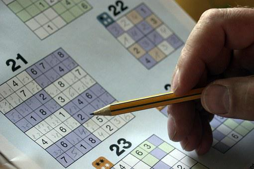 Sudoku, Puzzles, Mysterious Folder, Hand, Pencil, Solve