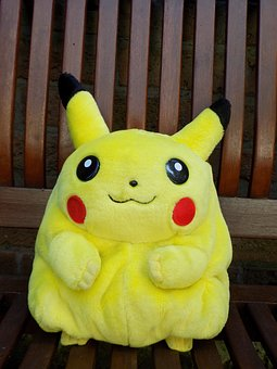 Pikachu, Pokemon, Fictitious, Yellow, Teddy Bear, Anime