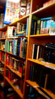 Books, Wooden Shelves, Library, Child Books, Reading