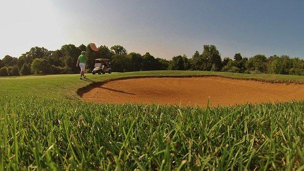 Golf, Sand Trap, Course, Green, Bunker, Fairway, Sunny