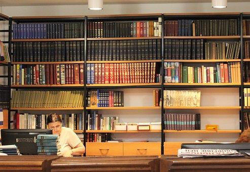 Library, Rack, Books, Shelves, Newspaper, Shelving