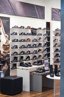Shoes, Exhibition, Shop, Shopping, Shelves, Buy