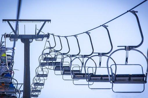 Ski Lift, Chairlift, Skiing, Resort, Skier, Recreation