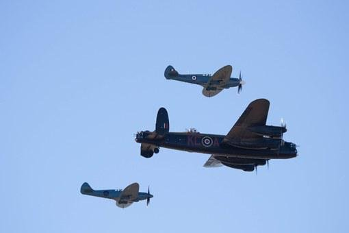 Southport Airshow, Spitfire, Hurricane, Lancaster