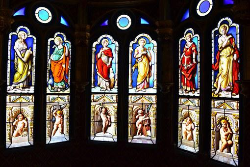 Stained Glass, Stained Glass Windows, Church, Oratory