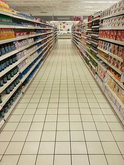 Supermarket, Empty, Shelves, Abundance, Greece