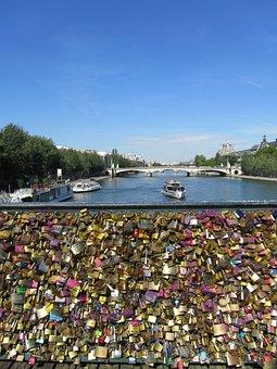Paris, La Seine, Bridge, Castles, Love, Tradition