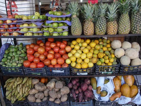 Colourful, Tropical Fruit, On The Shelves, Food
