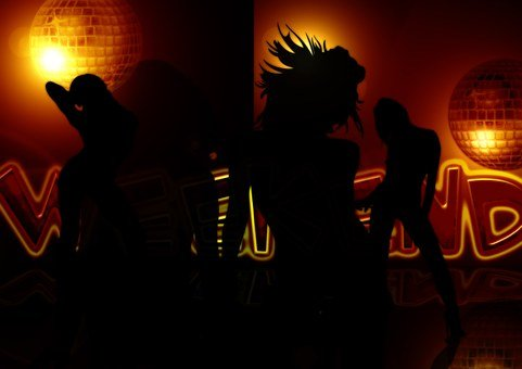 Silhouette, Woman, Girl, Movement, Weekend, Friday