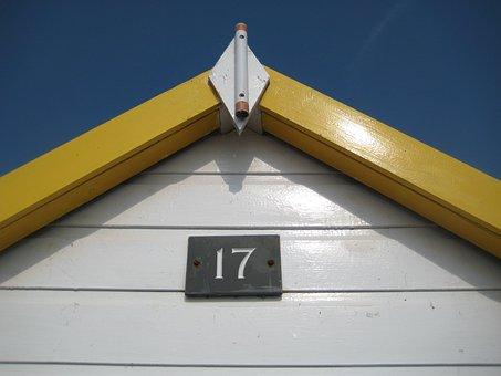 Beach Hut, Seaside, 17, Devon, Holiday, Summer