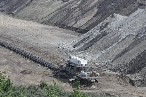 Mine, Archaeological Site, Heap, An Open Coal Mine