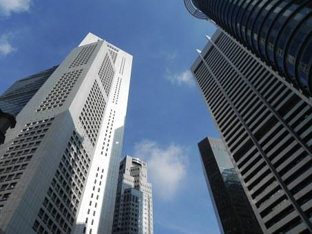 Raffles Place, Asia, Singapore, Skyline, Skyscrapers