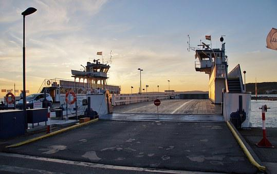 Ferry, Ship, All Aboard, Twilight, Balaton