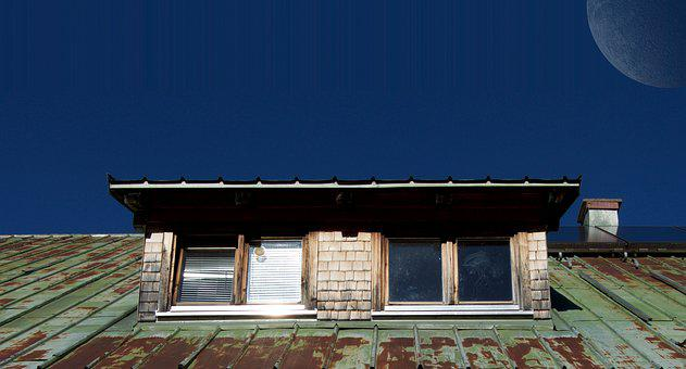 Chimney, Corrugated Sheet, Roof, Rain Gutter, Sunshine